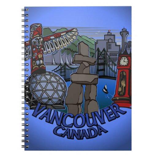 Diario del recuerdo de Vancouver del cuaderno de V