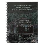 Diario del registro del viaje del tren de ferrocar libros de apuntes con espiral
