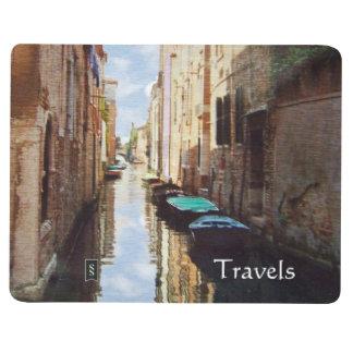 Diario del viaje del bolsillo del canal de Venecia Cuaderno Grapado