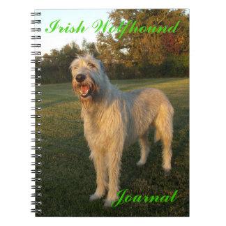 Diario del Wolfhound irlandés Libro De Apuntes Con Espiral