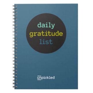 Diario diario de la gratitud spiral notebooks