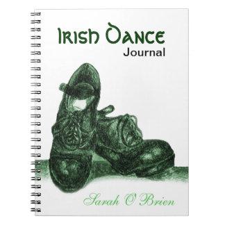 Diario duro irlandés de los zapatos spiral notebook
