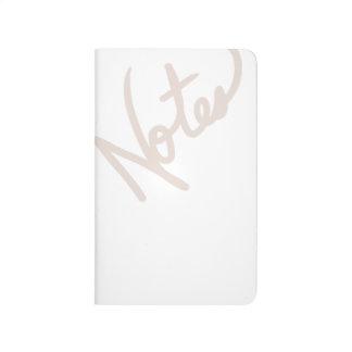 """Diario en blanco gris de las """"notas"""" de la lila cuaderno"""