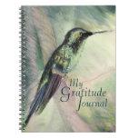 Diario en colores pastel de la gratitud de la bell libreta