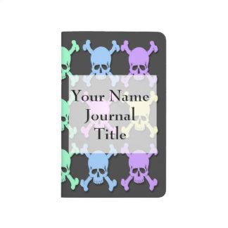 Diario en colores pastel del bolsillo del modelo d cuadernos