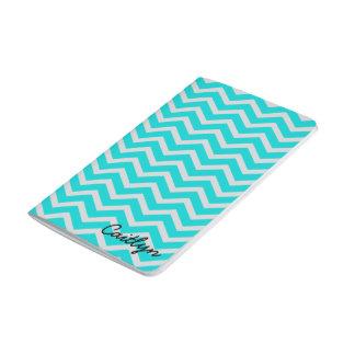 Diario encuadernado azul y gris de Chevron Cuadernos Grapados