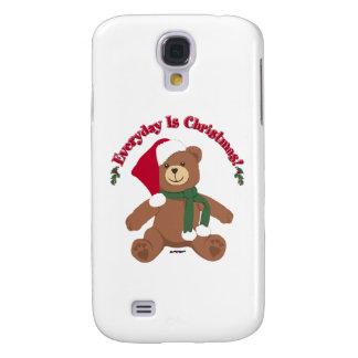 ¡Diario es el navidad! Oso de ChristmasTeddy Funda Para Galaxy S4