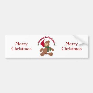 ¡Diario es el navidad! Oso de ChristmasTeddy Pegatina Para Auto
