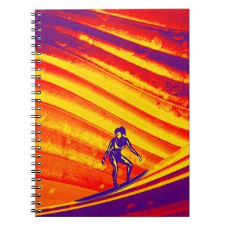 Diario espiral, diseño abstracto de la persona que libretas espirales