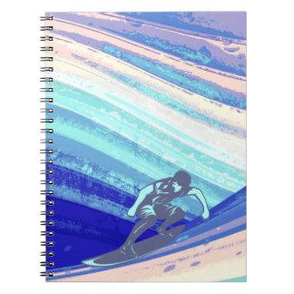 Diario espiral, diseño abstracto de la persona que notebook