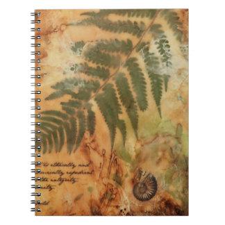 Diario estético del diseño libros de apuntes con espiral