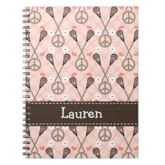 Diario flojo del cuaderno espiral de LaCrosse del