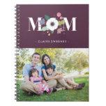 Diario floral de la mamá - ciruelo libreta espiral