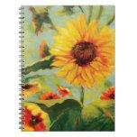 Diario floral del girasol cuaderno