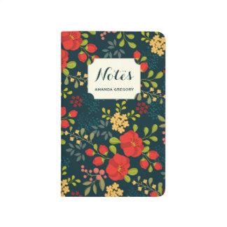 Diario floral personalizado jardín inglés cuaderno