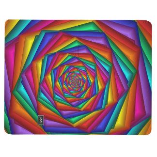 Diario geométrico del bolsillo del espiral del cuadernos