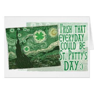 Diario irlandés era engranaje del día de St Patric Felicitación