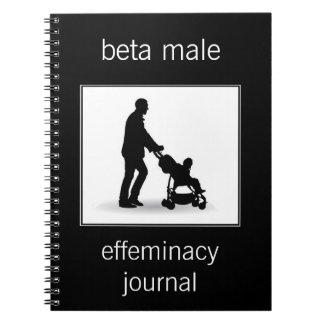 diario masculino beta del afeminamiento libretas espirales