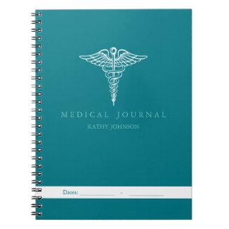 Diario médico paciente personal libros de apuntes