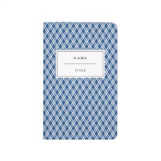 Diario moderno, modelado del bolsillo - azul cuaderno grapado