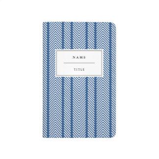 Diario moderno, modelado del bolsillo - azul cuadernos