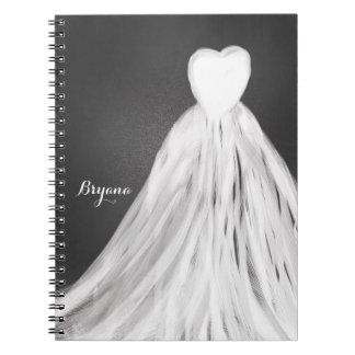 Diario nupcial de la ducha del vestido de boda de note book