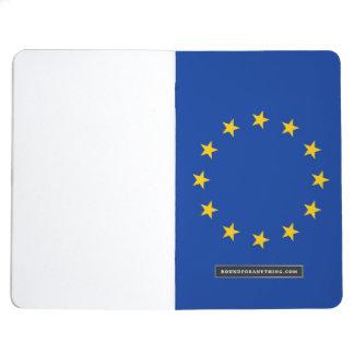 Diario patriótico con la bandera de la unión europ cuaderno grapado