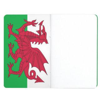 Diario patriótico con la bandera de País de Gales Cuadernos Grapados