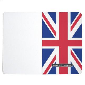 Diario patriótico con la bandera de Reino Unido Cuadernos Grapados
