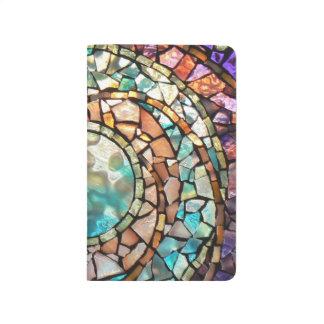 """Diario personal """"planeta """" del mosaico del vitral cuadernos grapados"""