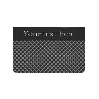 Diario personalizado cadenas negras del bolsillo cuaderno grapado