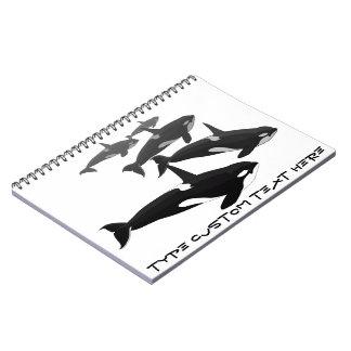 Diario personalizado cuaderno de la orca de la orc