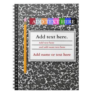 Diario personalizado del cuaderno
