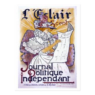 Diario político francés de Nouveau del arte Postal