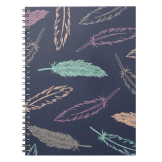 Diario que cae de las plumas - medianoche cuaderno