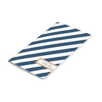 Diario rayado diagonal de la marina de guerra cuaderno