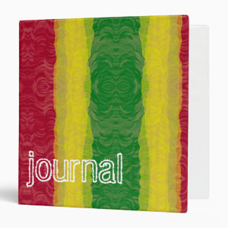 """Diario rojo abstracto del verde amarillo de Rasta Carpeta 1 1/2"""""""