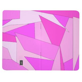 Diario rosado abstracto cuaderno grapado
