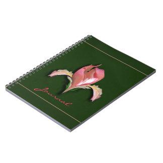 Diario rosado abstracto del cuaderno de la flor de