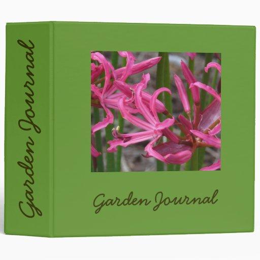"""Diario rosado del jardín de los lirios - Avery 2"""" Carpeta 2"""""""