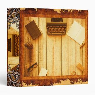 """Diario rústico bonito del libro de la máquina de carpeta 1 1/2"""""""