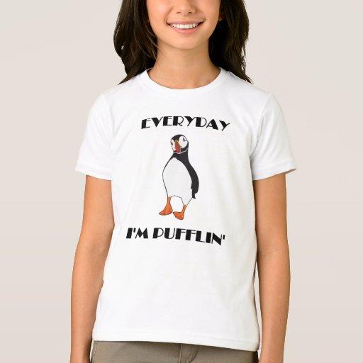 Diario soy pájaro del frailecillo de Pufflin Playera