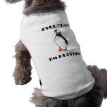 Diario soy pájaro del frailecillo de Pufflin Playera Sin Mangas Para Perro
