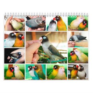 Diario te amo calendario de pared