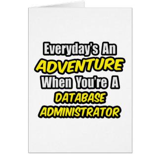 Diario un administrador de base de datos de la ave felicitacion