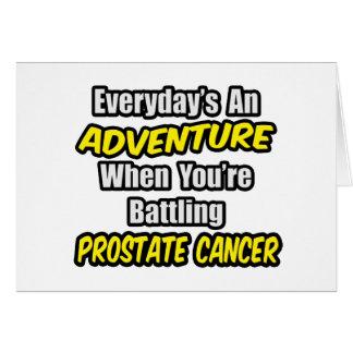 Diario un cáncer de próstata de la aventura… tarjeta de felicitación