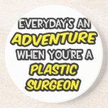 Diario un cirujano plástico de la aventura… posavasos personalizados