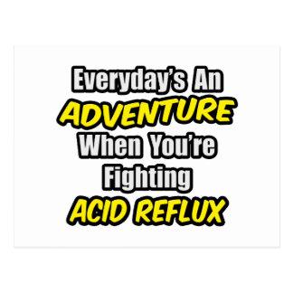 Diario un reflujo ácido de la aventura… tarjeta postal