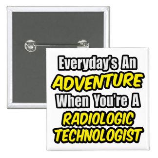 Diario una aventura. Tecnología radiológica Pin Cuadrado