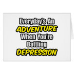 Diario una depresión de la aventura… tarjetón